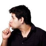 SHHHH ist ruhig! lizenzfreie stockfotos