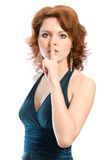 Shhhh? Mantenha o silêncio Imagem de Stock Royalty Free