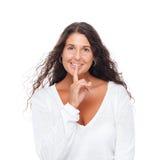 Shhhh-Ruhe bitte Lizenzfreie Stockfotos