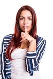 Shhhh! Silence please! Royalty Free Stock Image