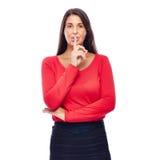 Shhhh tranquille svp Photos stock