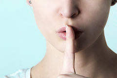 shhhhh Fotografia Stock