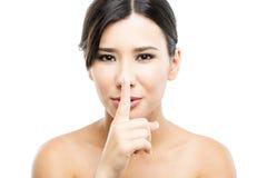 Shhhhh стоковое изображение rf