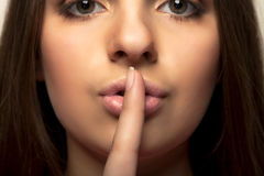 Shhhhh - halten Sie Ruhe lizenzfreies stockfoto