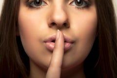 Shhhhh - houd stilte Royalty-vrije Stock Foto