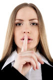 Shhhhh - houd stilte Stock Afbeelding