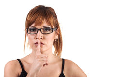 Shhhhh - keep silence Stock Photos