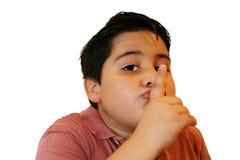Shhhhh. silenzio Fotografia Stock Libera da Diritti