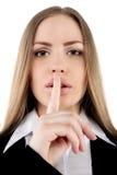Shhhhh - uppehälletystnad Fotografering för Bildbyråer