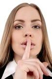 Shhhhh - uppehälletystnad Arkivfoto
