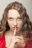 Shhhhh Royalty Free Stock Photography