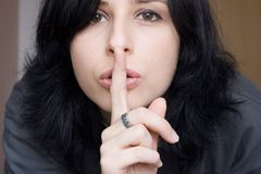 Shhhhhh stock photo. Image of secrecy, confidentiality ...