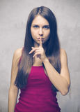 Shhhhhh! imagens de stock