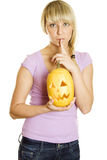 Shhhhhh Halloween Stock Photos