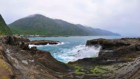 Shi钛砰岩层在台湾 库存照片