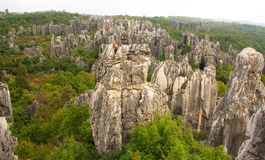 Shi Lin stone forest national park. Kunming. Royalty Free Stock Photos