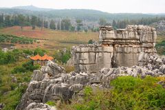 Shi Lin Stone forest national park in Yunnan province, China Stock Images