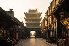 Shi Low van de oude stad van Pingyao Stock Afbeelding