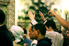 Shia muslim men praying Royalty Free Stock Photos