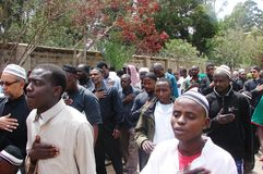Shia Muslim in Ashura program in Africa, Nairobi Kenya. Commemoration  for Islamic event known as Ashura for remembering Imam Hussein (a.s Stock Photography