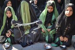 Shia Muslim women mourn during Ashura ceremonies Royalty Free Stock Image