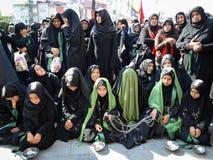 Shia Muslim women mourn during Ashura ceremonies Royalty Free Stock Images