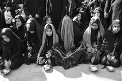 Shia Muslim women mourn during Ashura ceremonies Royalty Free Stock Photos