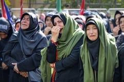 Shia Muslim women mourn during Ashura ceremonies Stock Images