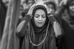 Shia Muslim women mourn during Ashura ceremonies Stock Image