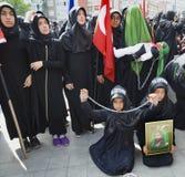 Shia Muslim women mourn during an Ashura Stock Image
