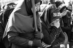 Shia Muslim women mourn during an Ashura Royalty Free Stock Photos
