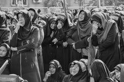 Shia Muslim women mourn during an Ashura Royalty Free Stock Photo