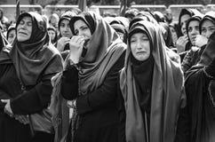 Shia Muslim women mourn during Ashura Royalty Free Stock Photography
