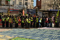 Shia Muslims gather in Marble Arch London Royalty Free Stock Photo