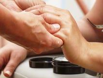 Shiatsu-Massage Stockfoto