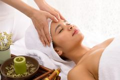 Shiatsu massage Stock Photography