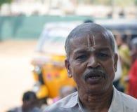 Shiavite. Madurai, India - May 8, 2009. A man celebrates at a hindu Royalty Free Stock Photography