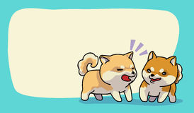 Shiba inu happy time. Vector illustration Royalty Free Stock Photography