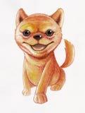 Shiba se sienta stock de ilustración