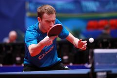 SHIBAEV Alexander from Russia backhand Stock Images