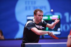 SHIBAEV Alexander from Russia on serve Stock Photos