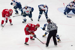 A. Shibaev (78) on face-off Stock Images