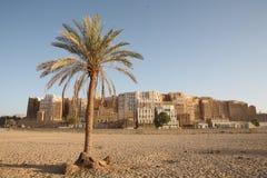 Shibam - beroemde Yemeni stad royalty-vrije stock afbeelding