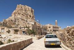 Shibam village near sanaa in yemen street scene Royalty Free Stock Image