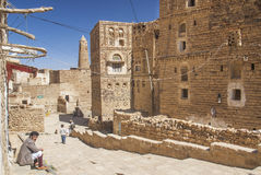 Shibam village in yemen Royalty Free Stock Image
