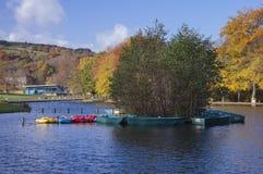 Shibden park boating lake halifax Stock Image
