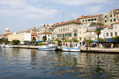 Shibenik cityscape. Shibenik is a historic city in Croatia, located in central Dalmatia on the Adriatic Sea coast royalty free stock photo