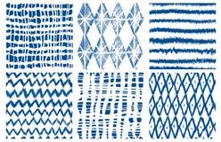 Free Shibori Dye Tie Geo Vector Seamless Pattern Indigo Stock Image - 126467571