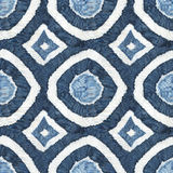 Shibori. Seamless tie-dye pattern of indigo color on white silk. Hand painting fabrics - nodular batik. Shibori dyeing Stock Images