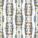 Shibori van het Ikat naadloze geometrische patroon vector illustratie